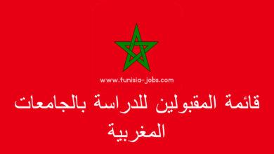 Photo of قائمة الطلبة التونسيين المقبولين للدراسة بالجامعات العمومية المغربية