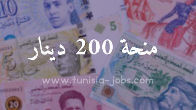 صورة إنطلاق صرف منحة 200 دينار للذين تقدموا بمطالب لدى العمد